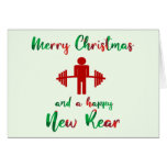 Funny Fitness Themed Christmas Card at Zazzle