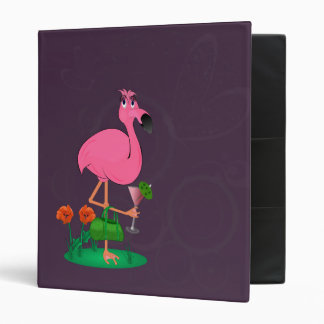 Funny Flamingo Binder