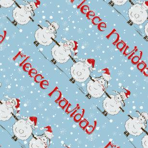 funny fleece navidad christmas adorable sheep wrapping paper - Funny Christmas Wrapping Paper