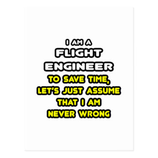 Funny Flight Engineer T-Shirts and Gifts Postcard