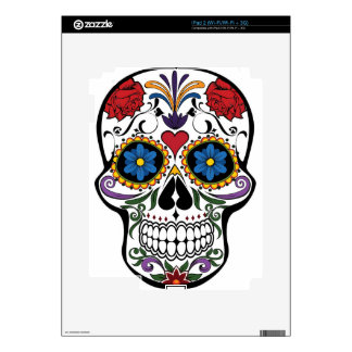 Funny Floral Skull Decal For The iPad 2