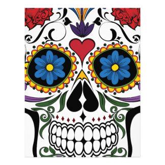 Funny Floral Skull Letterhead