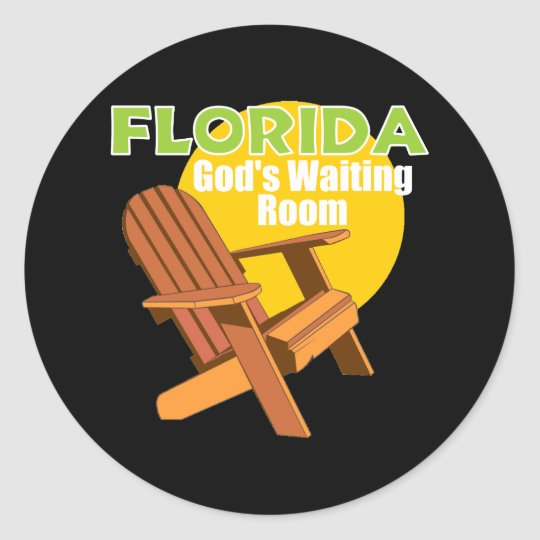 Funny Florida Senior Citizen Gift Classic Round Sticker