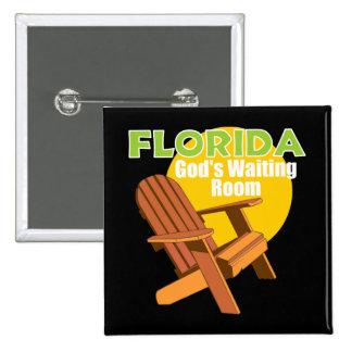 Funny Florida Senior Citizen Gift Pinback Button