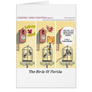 Funny Florida Stand Your Ground Birds Card
