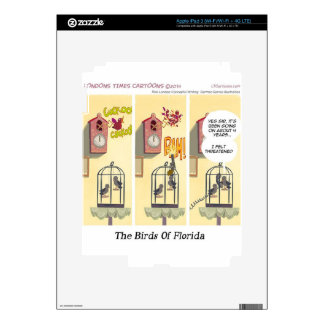 Funny Florida Stand Your Ground Birds Decal For iPad 3