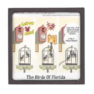 Funny Florida Stand Your Ground Birds Jewelry Box