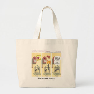 Funny Florida Stand Your Ground Birds Large Tote Bag