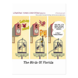Funny Florida Stand Your Ground Birds Postcard