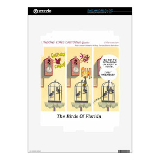 Funny Florida Stand Your Ground Birds Skins For iPad 2
