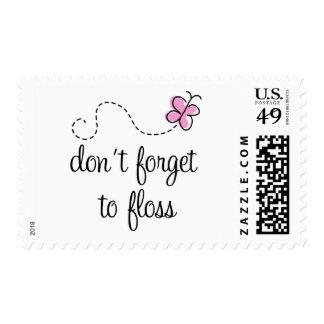 Funny Floss Dental Hygienist Stamp