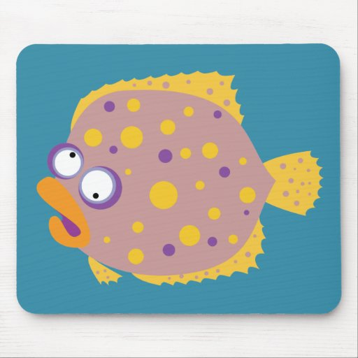 Funny Flounder Mouse Pads