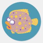 Funny Flounder Sticker