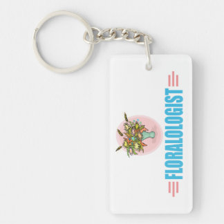 funny Flower Arranging Lover Rectangle Acrylic Key Chains