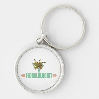 Funny Flower Arranging Lover Keychain