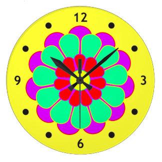 Funny Flower Power Bloom I Clocks