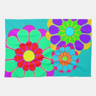 Funny Flower Power Bloom I II III Hand Towels