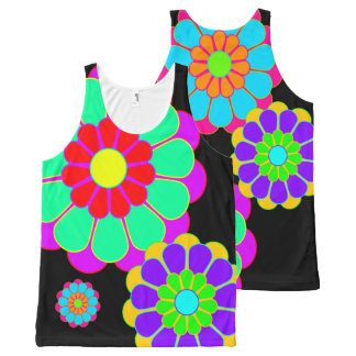 Funny Flower Power Bloom I II III + your idea All-Over Print Tank Top