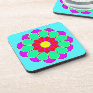 Funny Flower Power Bloom I + your backgr. & idea Coaster