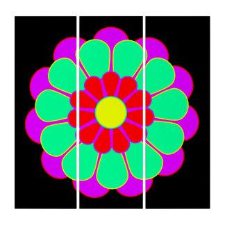 Funny Flower Power Bloom I + your backgr. & idea Triptych