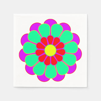 Funny Flower Power Bloom I + your idea Napkin