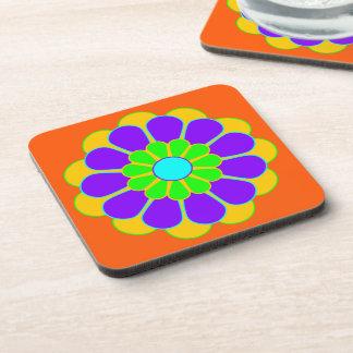 Funny Flower Power Bloom II + your backgr. & idea Beverage Coaster