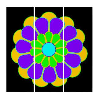 Funny Flower Power Bloom II + your backgr. & idea Triptych