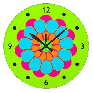 Funny Flower Power Bloom III Wall Clocks