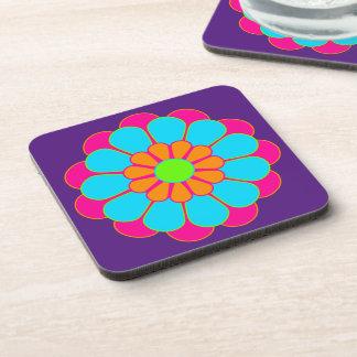 Funny Flower Power Bloom III + your backgr. & idea Coaster