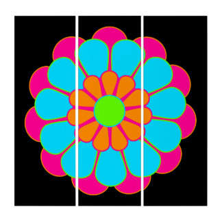 Funny Flower Power Bloom III + your backgr. & idea Triptych