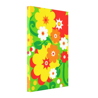 Funny Flower Power Wallpaper Canvas Print