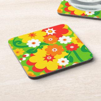 Funny Flower Power Wallpaper Coaster