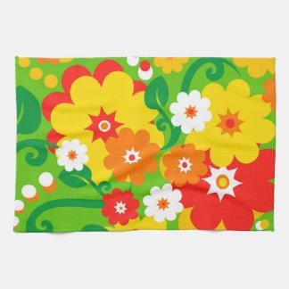 Funny Flower Power Wallpaper Kitchen Towels
