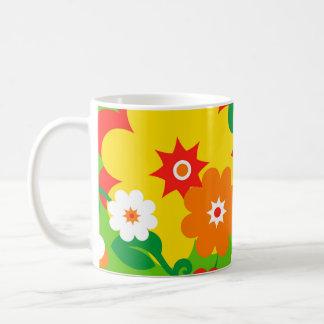 Funny Flower Power Wallpaper Coffee Mug