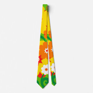 Funny Flower Power Wallpaper Neck Tie
