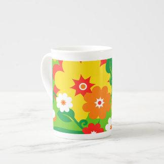Funny Flower Power Wallpaper Porcelain Mug