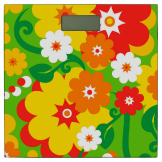 Funny Flower Power Wallpaper + your ideas Bathroom Scale