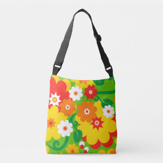 Funny Flower Power Wallpaper + your ideas Crossbody Bag