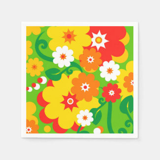 Funny Flower Power Wallpaper + your ideas Napkin