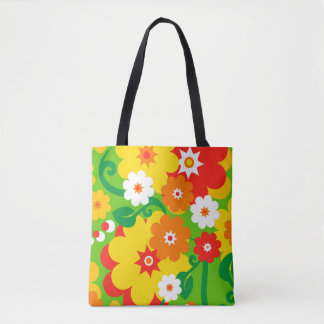 Funny Flower Power Wallpaper + your ideas Tote Bag