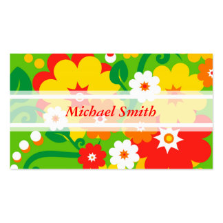 Funny Flower Power Wallpaper + your text Double-Sided Standard Business Cards (Pack Of 100)