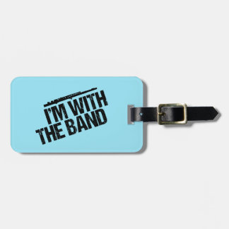 Funny Flute I'm With the Band Bag Tag