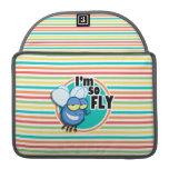 Funny Fly; Bright Rainbow Stripes MacBook Pro Sleeve