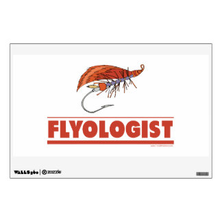 Funny Fly Tying Fishing Wall Sticker