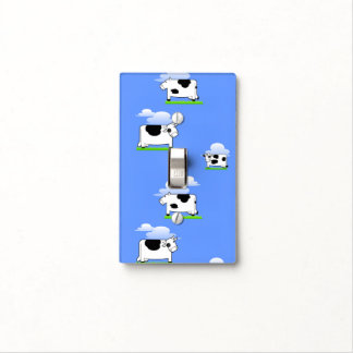 Funny  Flying Cows and Clouds Pattern Light Switch Cover