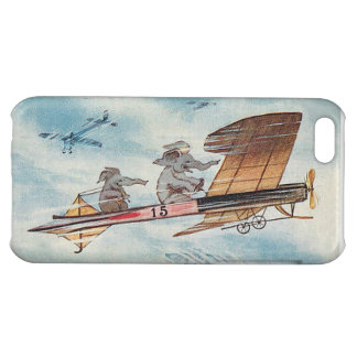 Funny Flying Elephants Cover For iPhone 5C
