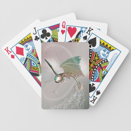 Funny flying fish bicycle card deck