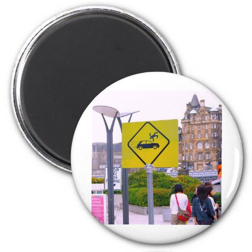 Funny Flying People 2 Inch Round Magnet