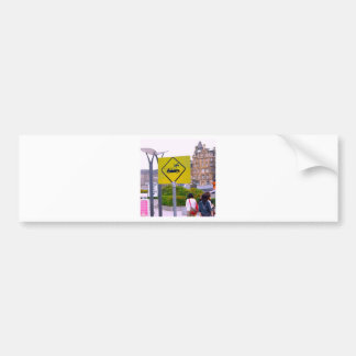 Funny Flying People Bumper Sticker
