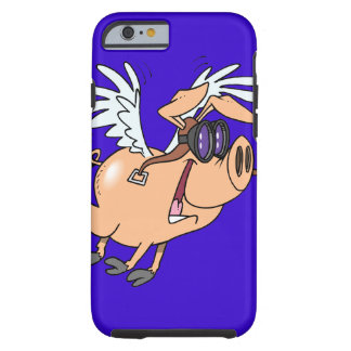 funny flying pig flyer cartoon iPhone 6 case